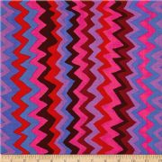 Kaffe Fassett Sound Waves Purple- Per Quarter Metre